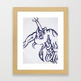 Fight Off Your Demons Framed Art Print