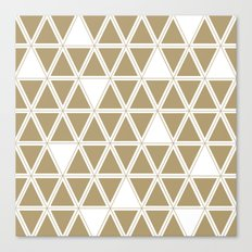Tan Triangles Canvas Print