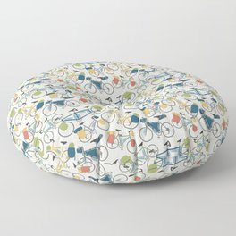 Touring Bicycles Floor Pillow