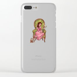 Reading fictional characters: Belle Clear iPhone Case