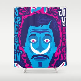 THE ROOTS OF HORROR ROCK :: SCREAMIN' JAY HAWKINS Shower Curtain