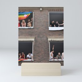 Watching the Pride Parade Mini Art Print