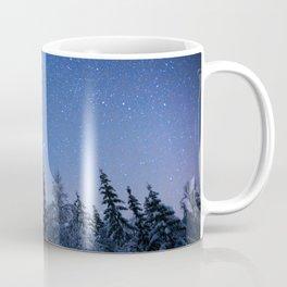 Shimmering Blue Night Sky Stars 2 Coffee Mug