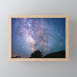 The Night Sky II - glowing stars Framed Mini Art Print