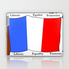 Flag of France III- France, Français,française, French,romantic,love,gastronomy Laptop & iPad Skin
