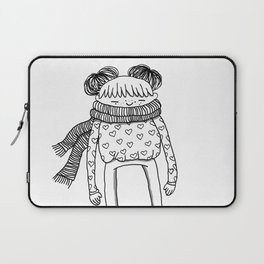 Betty in black and white Laptop Sleeve