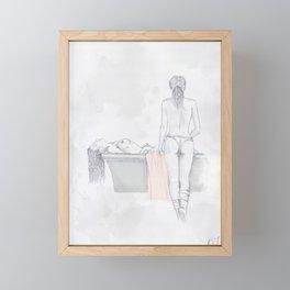 Figures Framed Mini Art Print