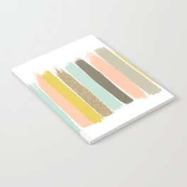 Madison - Brushstroke art print in modern colors bright and happy gifts for trendy girls Notebook