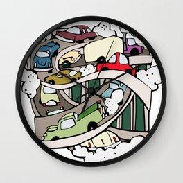Car pollution Wall Clock
