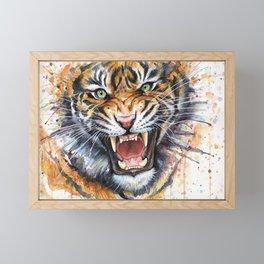 Tiger Watercolor Animal Painting Framed Mini Art Print