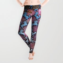 Cosmic Horse Pattern Leggings