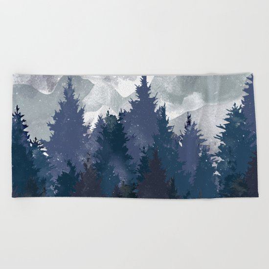Winter i will never forget you Beach Towel