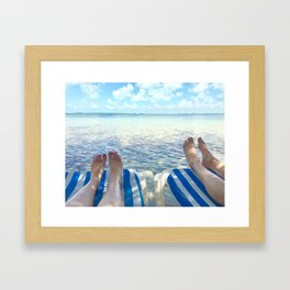 Lovers Toes over Key Largo Framed Art Print