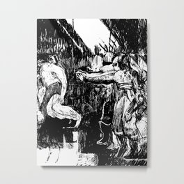 Three Disappear Metal Print