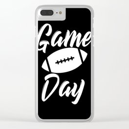 Game Day Football Clear iPhone Case