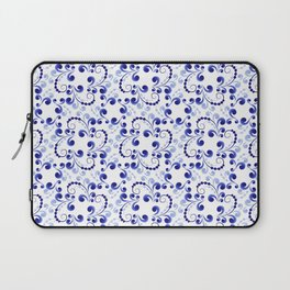 Floral pattern in blue Laptop Sleeve