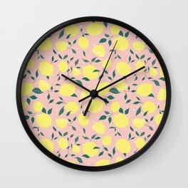 Squeeze a Lemon Wall Clock