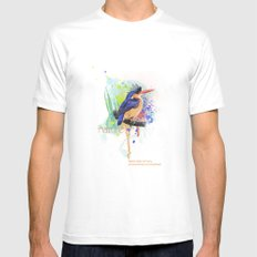 Nature does not hurry Mens Fitted Tee MEDIUM White