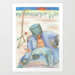 Recalibration (He Meditates) Art Print