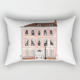 Queens Square Bristol by Charlotte Vallance Rectangular Pillow