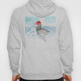 Mermaid - watercolor version Hoody
