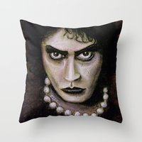 rocky horror picture show Throw Pillows featuring Untitled I by Rouble Rust