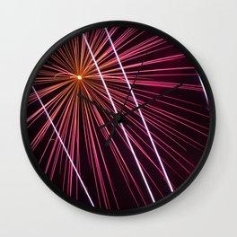 Fireworks display Wall Clock