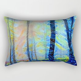 Sunrise in the Woods Rectangular Pillow
