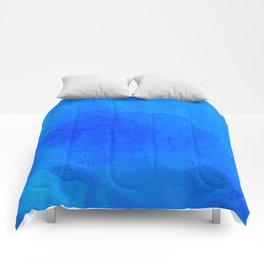 DARK BLUE WATERCOLOR BACKGROUND  Comforters