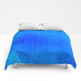 DARK BLUE WATERCOLOR BACKGROUND  Comforters