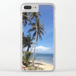 Caribbean Coastline Clear iPhone Case