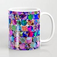 polka dot Mugs featuring Bright polka dot(4). by Mary Berg