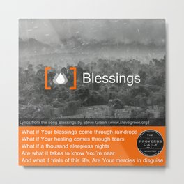Blessings Metal Print
