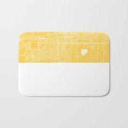 Bakersfield map yellow Bath Mat