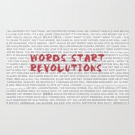 Words Start Revolutions Rug