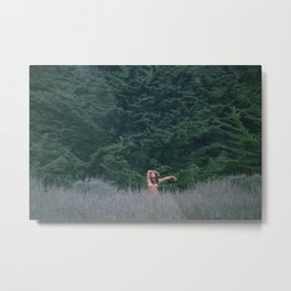 Blurry Greens Metal Print