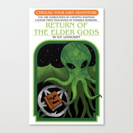 Cthulhu Your Own Adventure Canvas Print