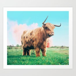 Highland Cow #society6 #decor #buyart Art Print