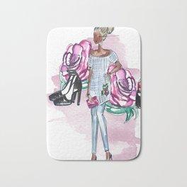 Flowers and Fashion Bath Mat