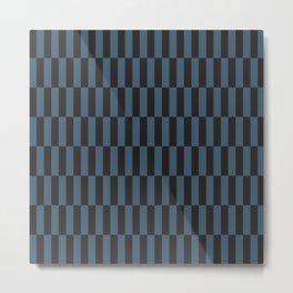 Lanky Checkers | Iron + Blue Metal Print