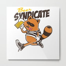 Beer Syndicate Metal Print