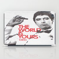 scarface iPad Cases featuring SCARFACE by I Love Decor