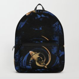 Swirling Fish Pattern Backpack
