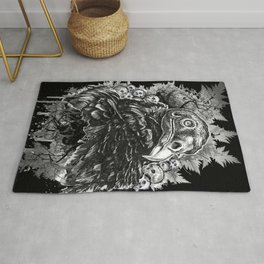 Vulture and Pine Rug