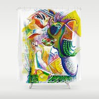 bookworm Shower Curtains featuring Bookworm by CrismanArt