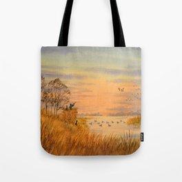Duck Hunters Calling Tote Bag