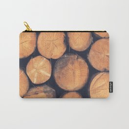 Wood Logs Carry-All Pouch