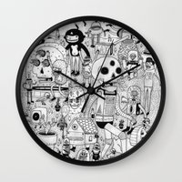 50s Wall Clocks featuring US AND THEM  by ALVAREZ