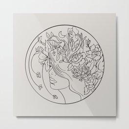 Elen Wild Goddess Metal Print