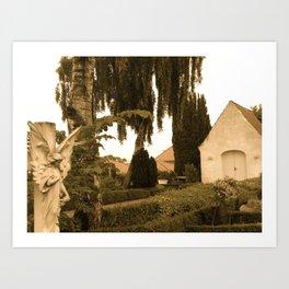 Peaceful Churchyard in Denmark I  Art Print